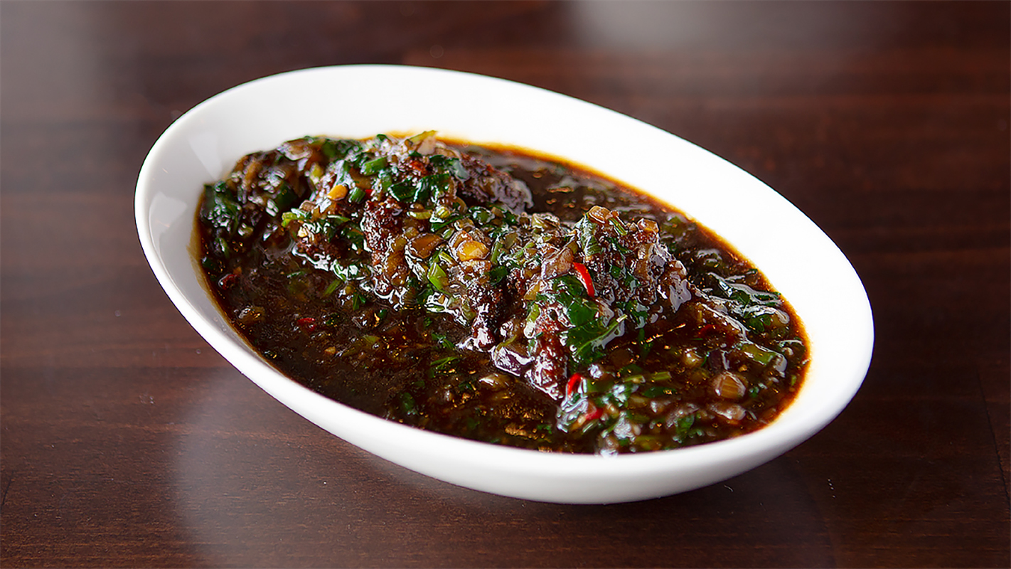 Vegetable Coins In Manchurian Sauce